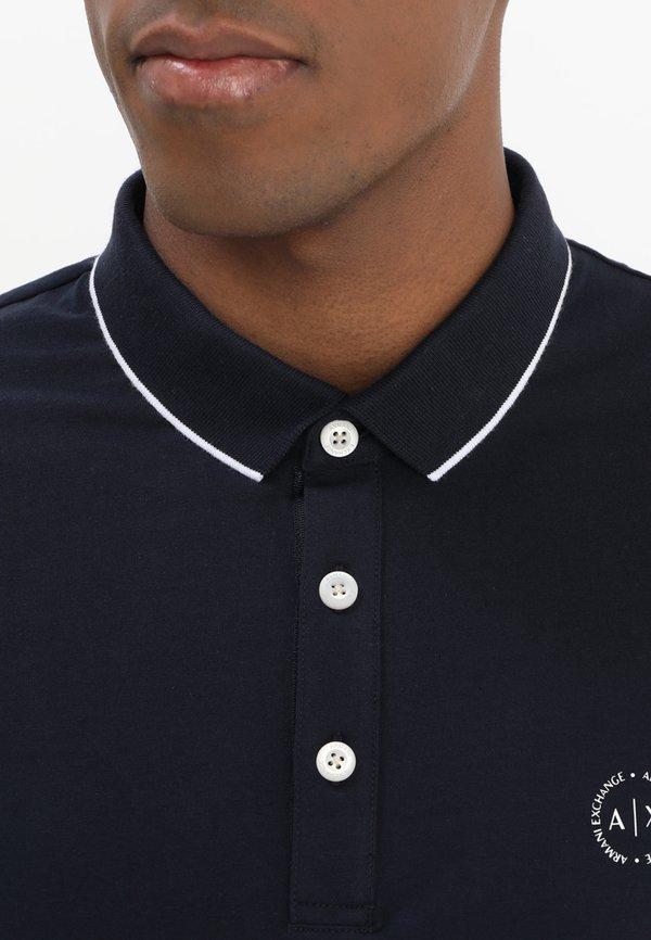 Armani Exchange Koszulka polo - navy/granatowy Odzież Męska NJRI
