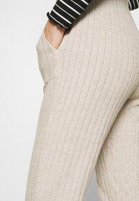 Kaffe - LUANA PANTS - Trousers - beige melange - 3
