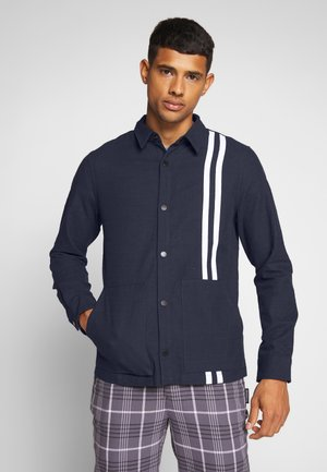CONTRAST STRIPE OUTERSHIRT - Summer jacket - mid blue