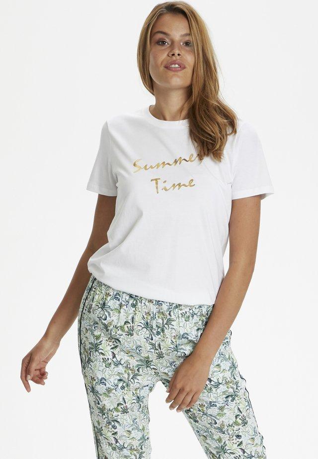 GINIESZ  - Camiseta estampada - bright white