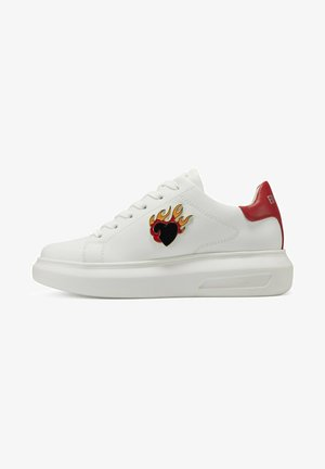 BUMP ED FLAME - Sneakers laag - white red