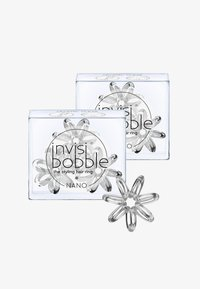 Invisibobble - NANO HAARGUMMI 2 PACK - Hair styling accessory - crystal clear - 0