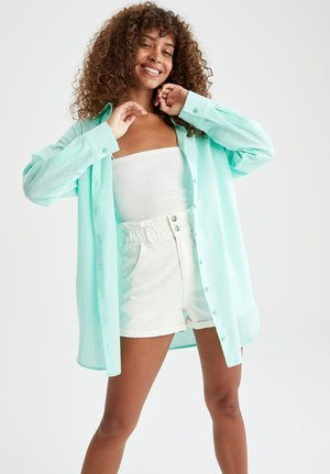 RELAX FIT - Skjorta - turquoise