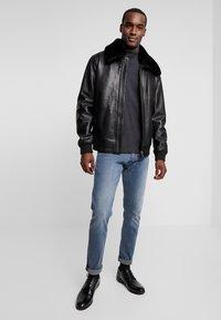 Oakwood - DADDY - Leather jacket - black - 1