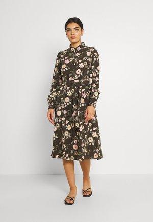 PCFALISHI MIDI SHIRT DRESS - Skjortekjole - black olive