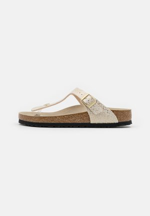 GIZEH - T-bar sandals - eggshell