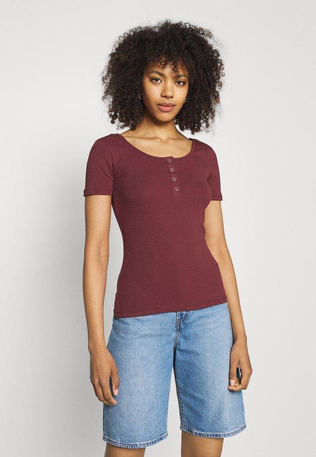 PCKITTE - T-Shirt basic - red mahogany