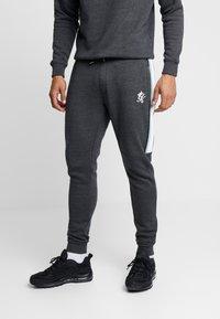 Gym King - CREA TRACKSUIT BOTTOMS - Pantalones deportivos - charcoal marl/green mist/white - 0