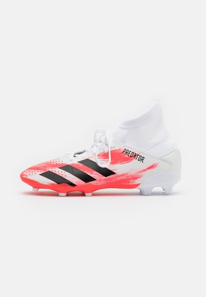 PREDATOR 20.3 FG - Chaussures de foot à crampons - footwear white/core black/pop