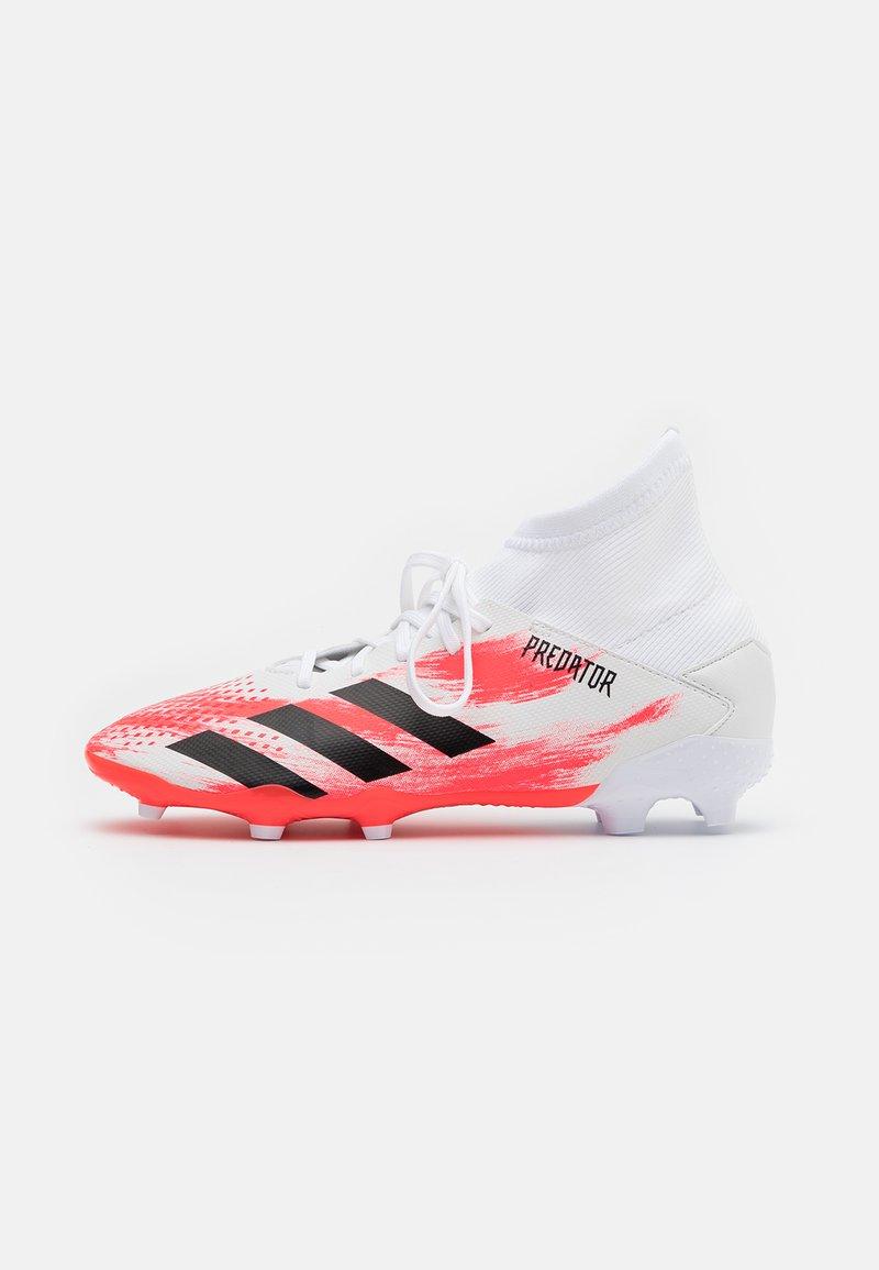 adidas Performance - PREDATOR 20.3 FG - Moulded stud football boots - footwear white/core black/pop
