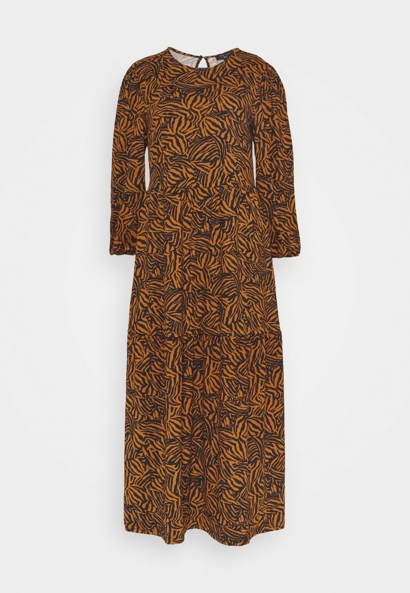 New Look Tall - MIA ZEBRA MIDI SMOCK - Jersey dress - brown
