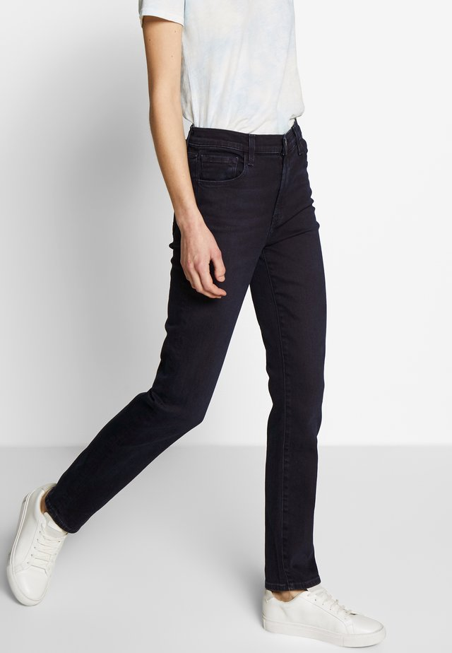 HIGH RISE CROP CIGARETTE - Jeans straight leg - blue denim