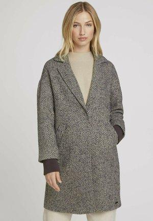 MIT FISCHGRÄTENMUSTER - Short coat - grey herringbone