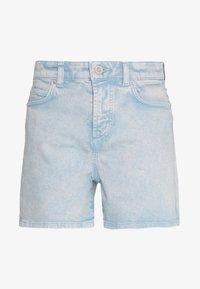HIGH WAIST MID LENGTH - Denim shorts - sky breeze