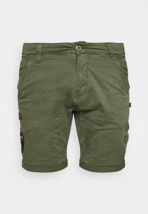 KEROSENE PATCH - Shorts - dark olive