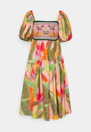 EMBROIDERED TOP DRESS - Day dress - pink garden