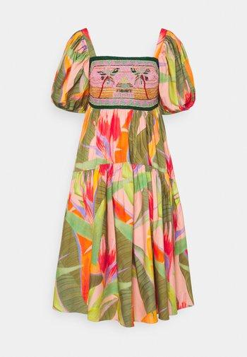 EMBROIDERED TOP DRESS - Kjole - pink garden