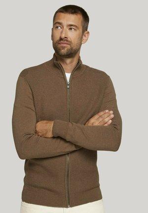 Cardigan - havana brown melange