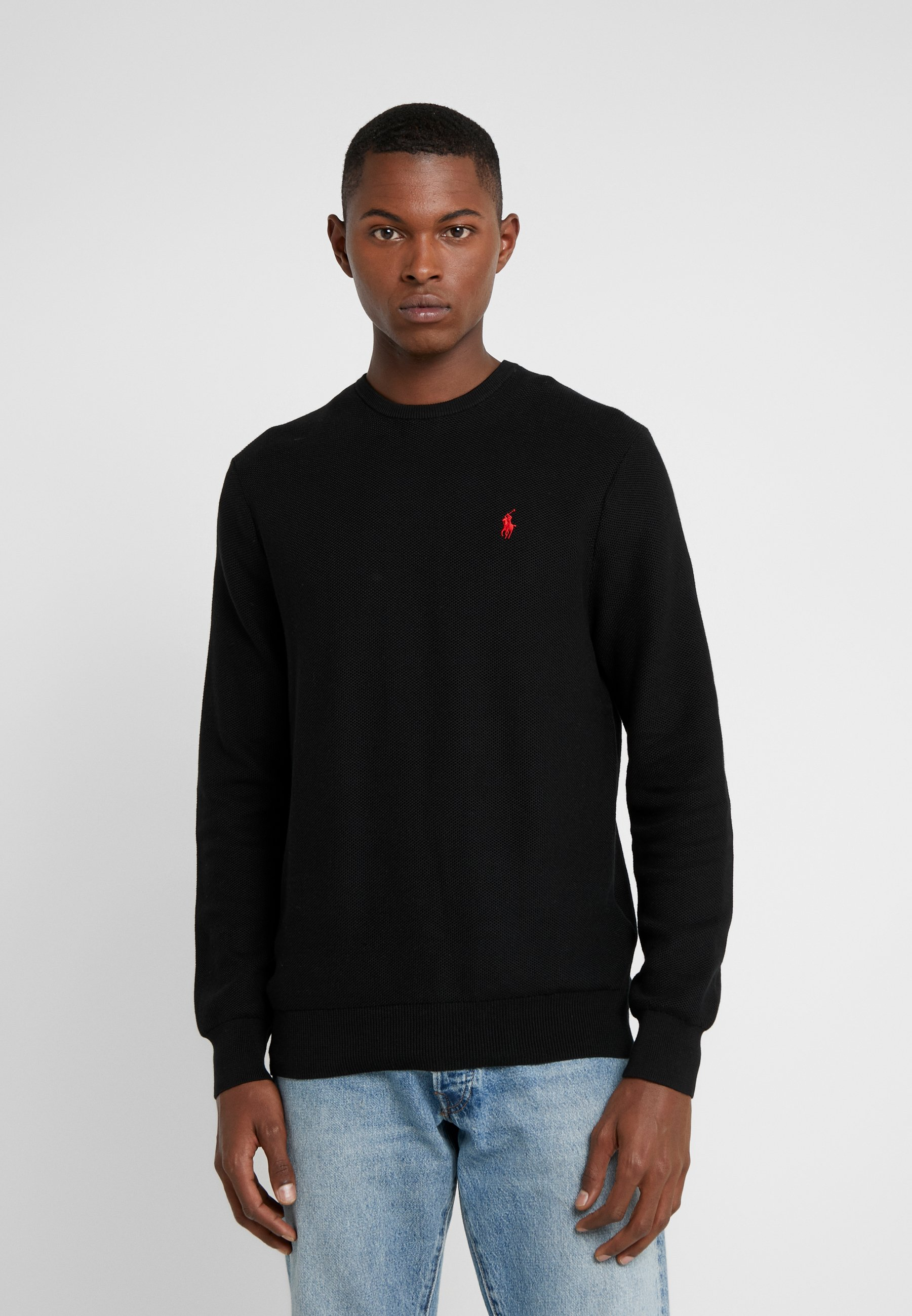 Homme COTTON MESH CREWNECK SWEATER - Pullover