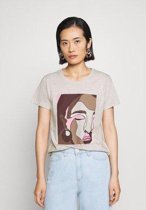BONNIE - Print T-shirt - cobblestone