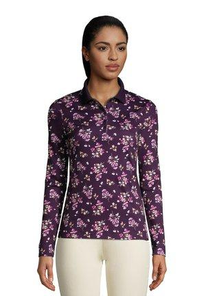 Poloshirt - blackberry berry floral