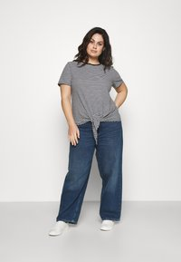 Lauren Ralph Lauren Woman - GENARO SHORT SLEEVE - Basic T-shirt - black/white - 1