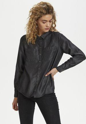 Button-down blouse - grey wash