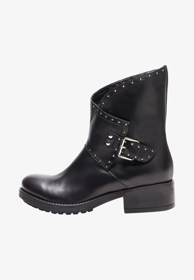 XENIA - Cowboy/biker ankle boot - black