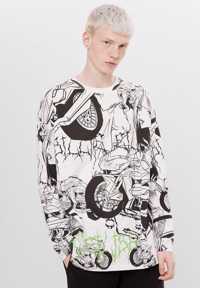 MIT PRINT BILLIE EILISH - T-shirt à manches longues - stone