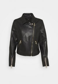 comma - JACKET - Faux leather jacket - black - 0