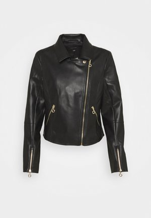 JACKET - Veste en similicuir - black