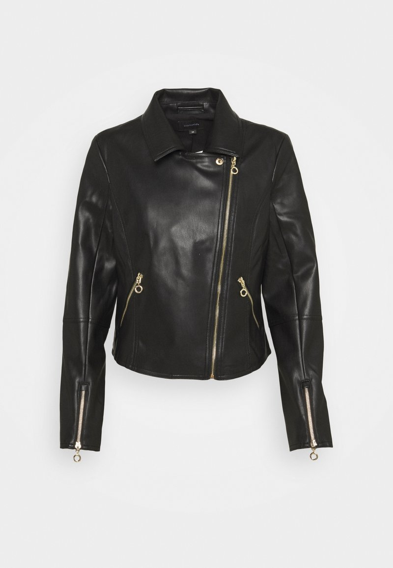 comma - JACKET - Giacca in similpelle - black