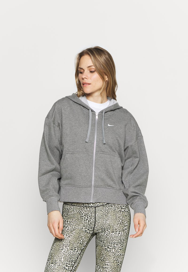Nike Performance - DRY GET FIT  - Zip-up hoodie - carbon heather/particle grey/white