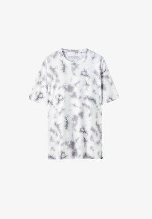 MIT TIE-DYE - T-shirt imprimé - white