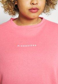 Missguided Plus - WASHED BASIC  - Sweatshirt - rose - 5