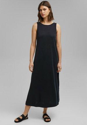 LONG PIQUE  - Robe d'été - black