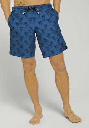 MIT REPREVE - Swimming shorts - blue navy palm design