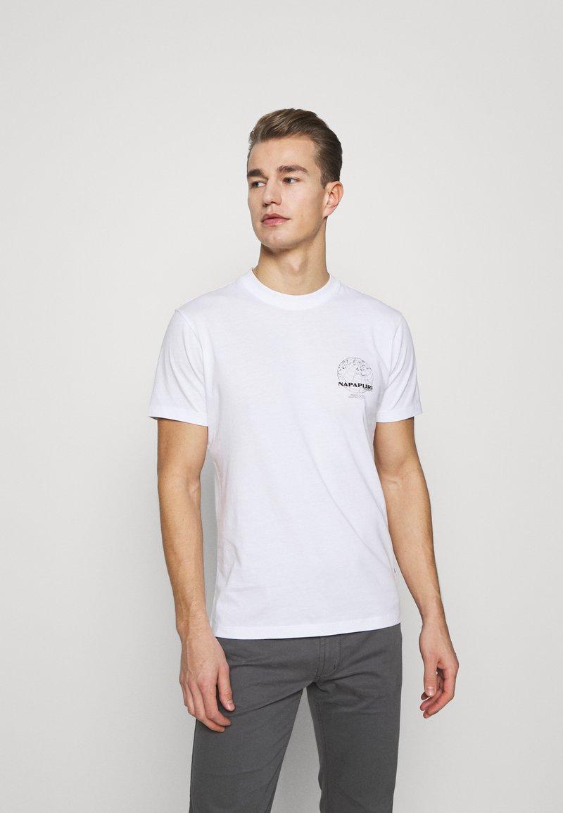 Napapijri - GRAPHIC - T-shirt med print - white