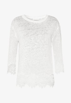 Long sleeved top - pearl white