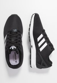 adidas Originals - ZX FLUX - Trainers - clear black/footwear white/clear pink - 3