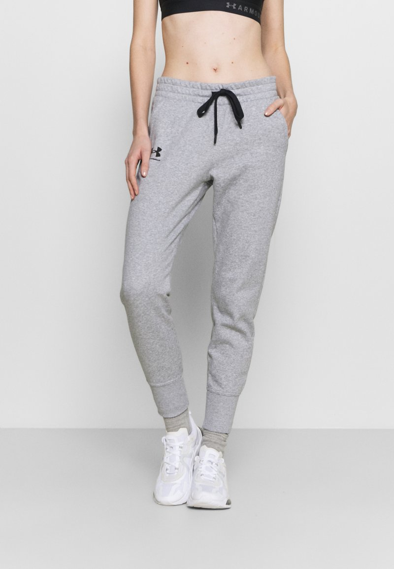 Under Armour - RIVAL - Tracksuit bottoms - steel medium heather