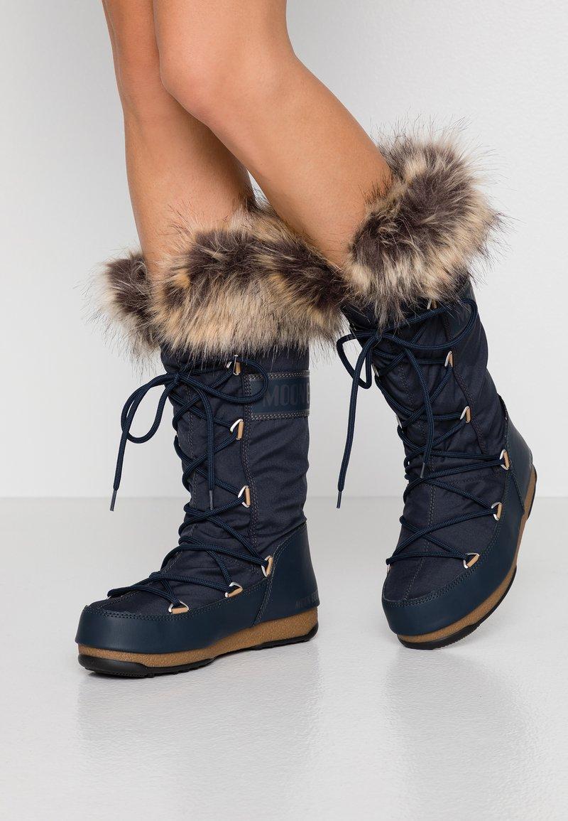 Moon Boot - MONACO WP - Vinterstøvler - denim blue