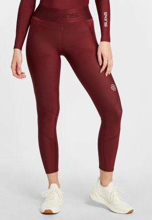 SKINS KOMPRESSIONSHOSE S3  - Tights - burgundy