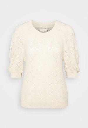 Print T-shirt - parchment