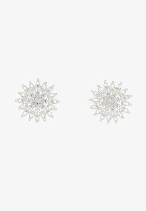 JUDITH EAR - Øreringe - silver-coloured/clear