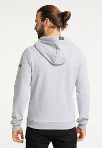 Schmuddelwedda - SWEATJACKE - Zip-up hoodie - hellgrau melange - 2
