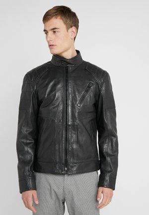 LIMA - Leather jacket - black
