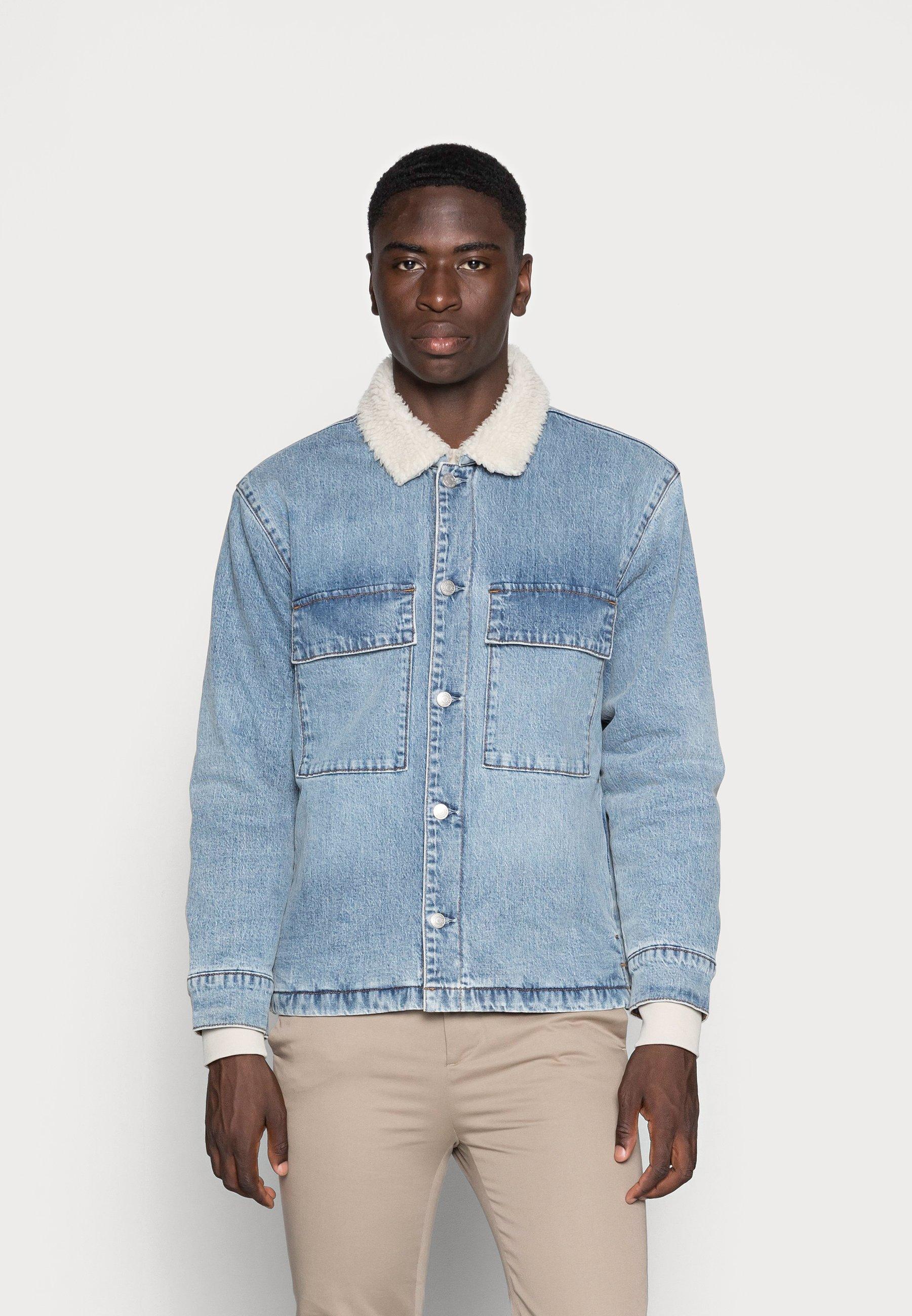 Uomo SHERPA OVERSHIRT - Giacca di jeans