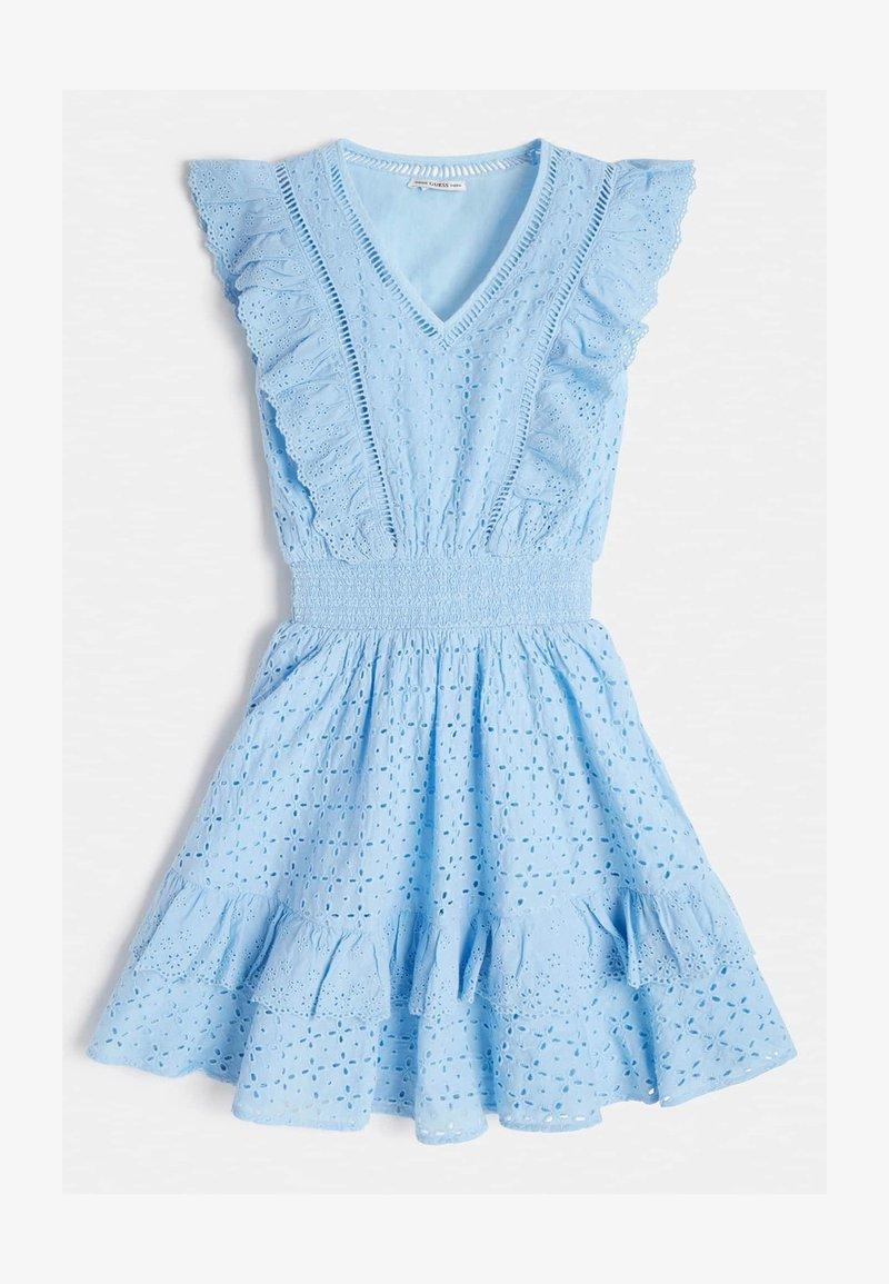 Guess - VOLANTS - Day dress - blau