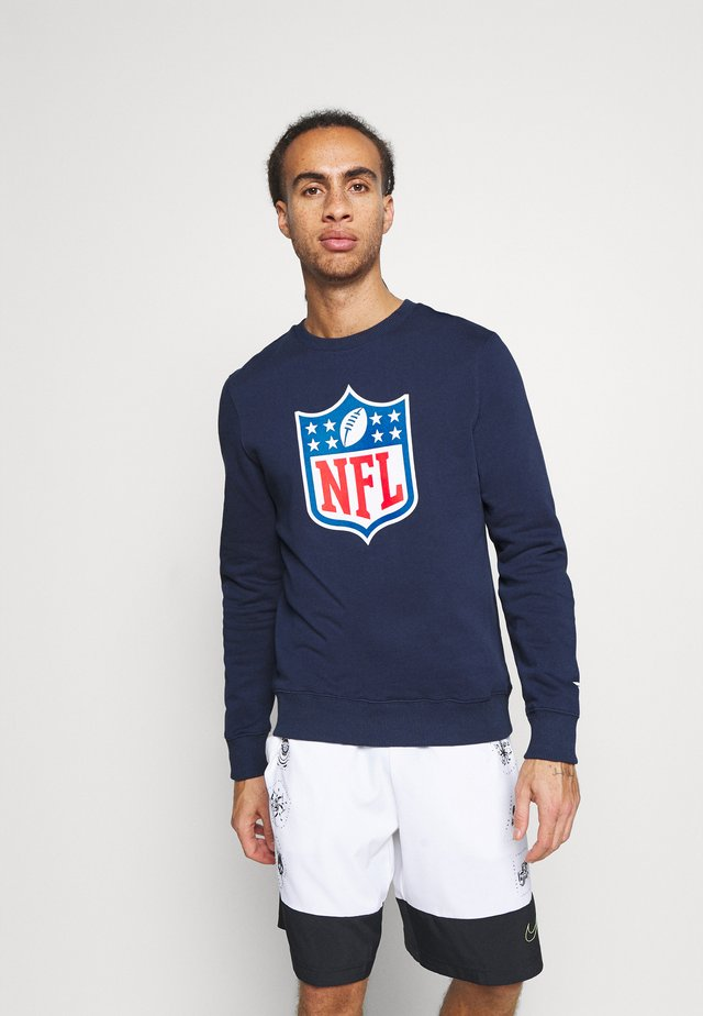 NFL ICONIC PRIMARY COLOUR LOGO GRAPHIC CREW  - Club wear - navy